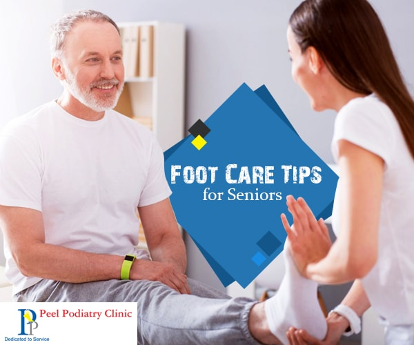 Senior foot care tips
